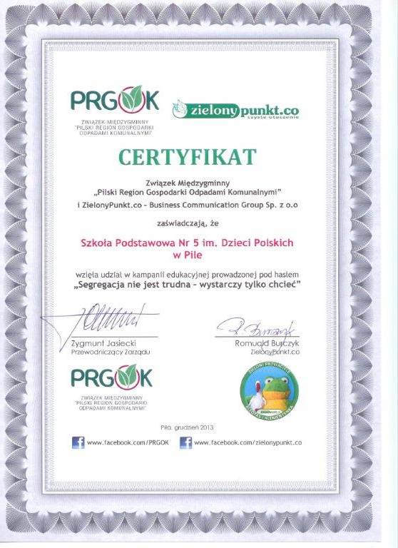 Certyfikat-PRGOK