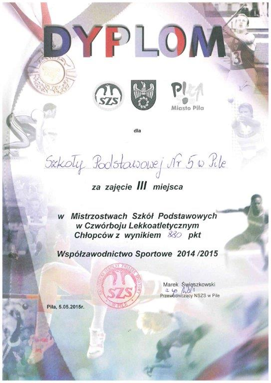 dyplom czwĂłrbĂłj LA